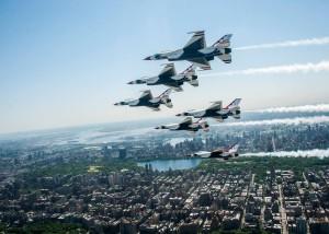 USAF Thunderbirds Over Central Park - New York City