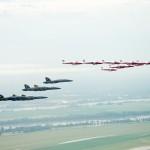 Blue Angels and Snowbirds Air to Air Photo Shoot