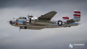 """B-25 Mitchell """"Panchito"""" - Vectren Dayton Airshow 2015"""