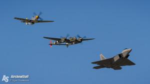 USAF Heritage Flight - EAA AirVenture Oshkosh 2015