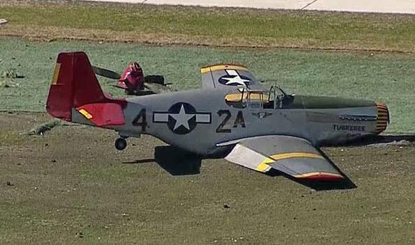"""P-51C Mustang """"Tuskegee Airmen"""" Landing Incident"""