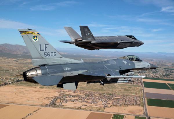 USAF F-35 Lightning II - Luke AFB - NASCAR Flyover