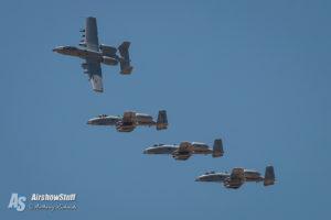 A-10 Warthog Formation - Hawgsmoke 2016 - Davis-Monthan AFB