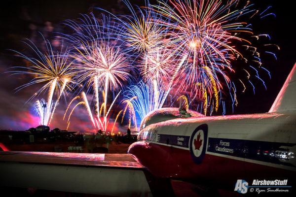 Canadian Snowbirds Fireworks