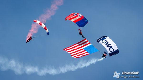 Parachutes at EAA AirVenture
