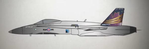2019 CF-18 Hornet Demonstration Team Paint Scheme - AirshowStuff
